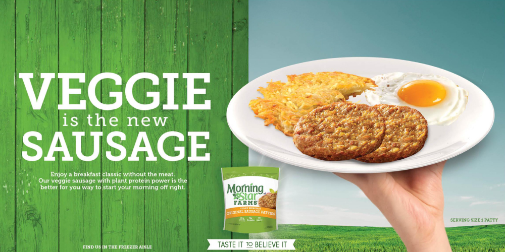 Veggie is the new sausage