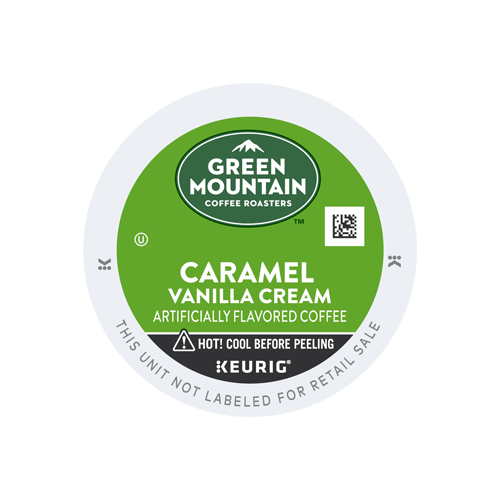 Green Mountain Coffee Caramel Vanilla Cream Flavored K-Cup Pods, Light Roast, 24 Count for Keurig Brewers